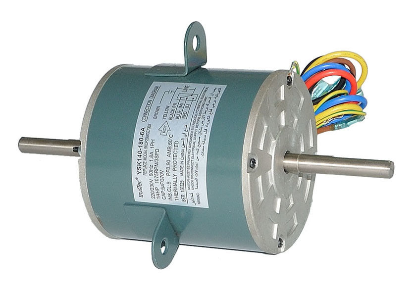 Electric Air Conditioning Fan Motor 230V 185W with Capacitor Customized