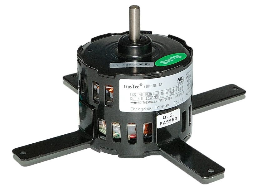 "Black Universal 230V 4 Pole 1550 RPM 3.3 Inch / 3.3"" motor Air Purifier Motor"